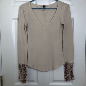 We The Free Ivory Thermal Art School Cuff Sz Small